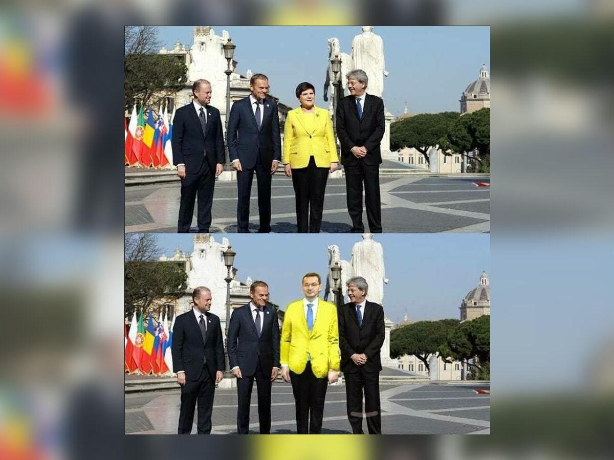 Premier nowy, strój ten sam. Jak by to wyglądało?