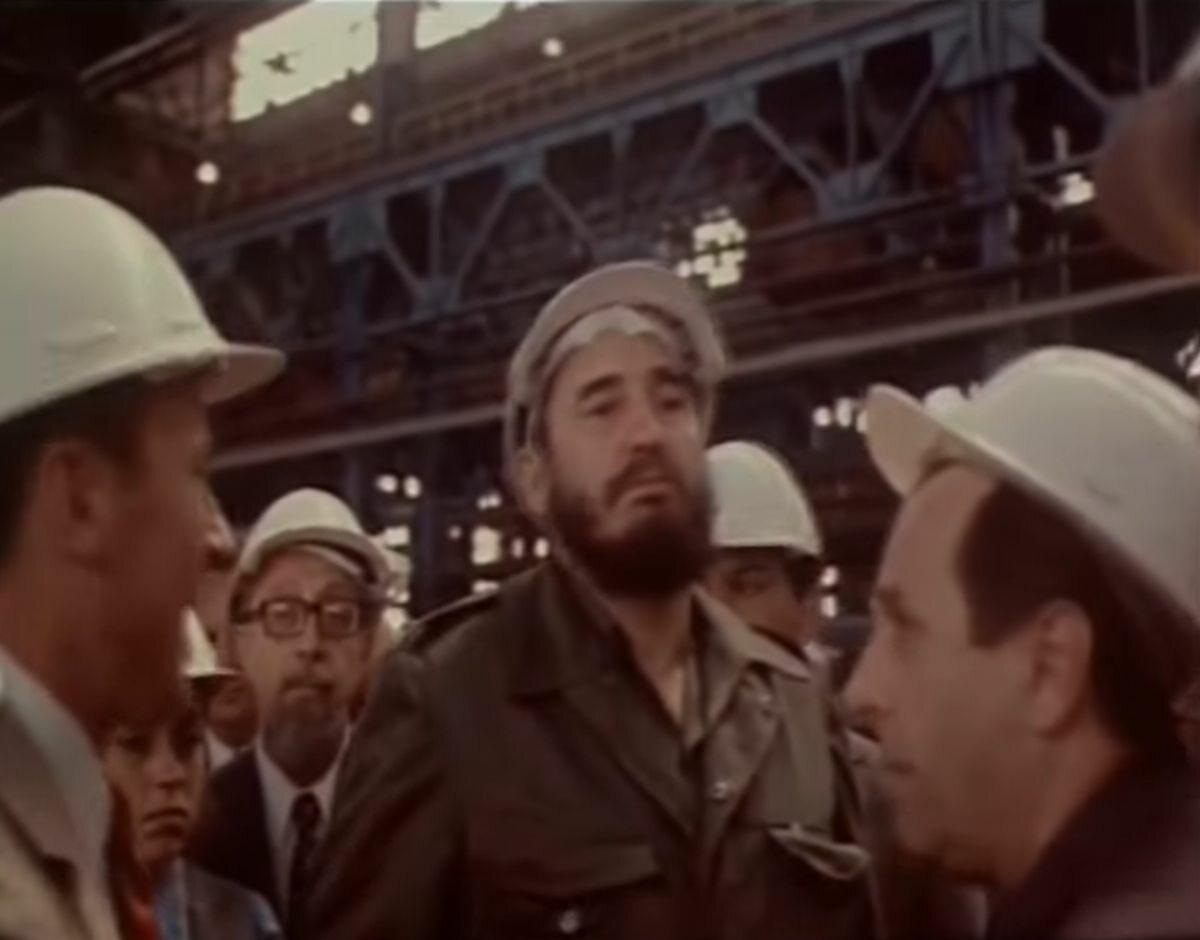 Fidel Castro w stoczni im.Lenina w Gdańsku