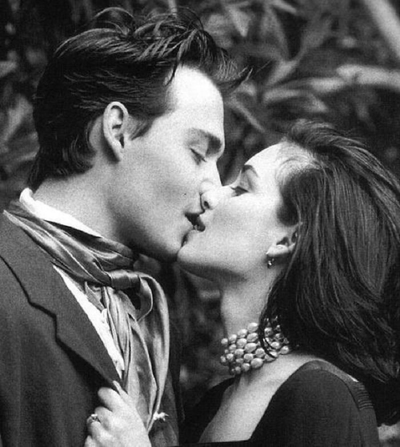 Johnny Depp i Winona Ryder w sesji dla magazynu Vogue. 1991 r.