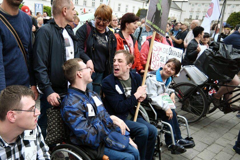 Protest osób niepełnosprawnych i ich opiekunów, 23 maja 2019