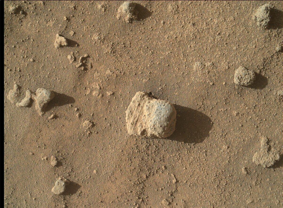 Piaskowiec z płaskowyżu Naukluft na górze Sharp na Marsie