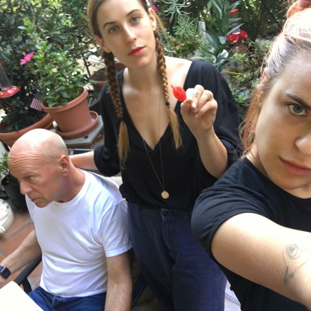 Bruce Willis z córkami: Scout  i Tallulah
