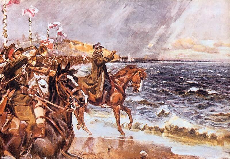 Zaślubiny Polski z morzem, obraz Wojciecha Kossaka
