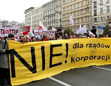 """Manifestacja przeciwko CETA w Warszawie. """"Demonstracja ponad podziałami"""""""