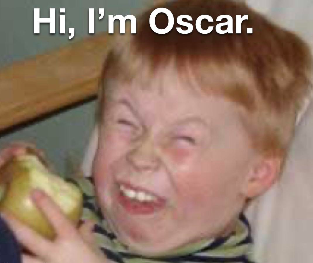 """Cześć, jestem Oskar"""