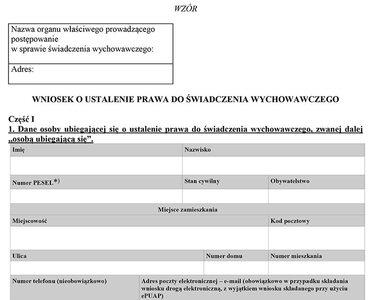 Ministerstwo opublikowało wniosek o 500 zł na dziecko