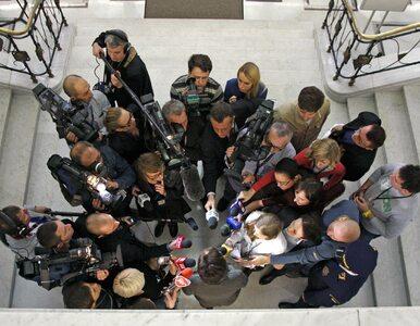 """Ograniczenia dla dziennikarzy w Sejmie? """"Nie chcemy, aby politycy byli..."""