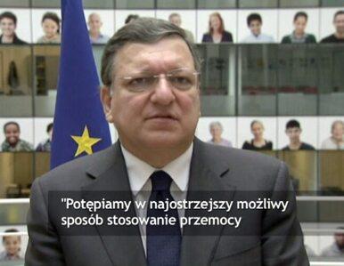 Barroso: Potępiamy stosowanie przemocy na Ukrainie