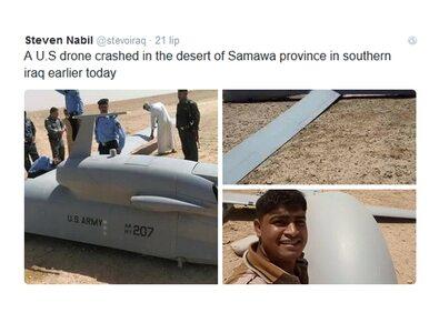 Dron USA spadł w Iraku. Mieszkańcy robili sobie z nim selfie