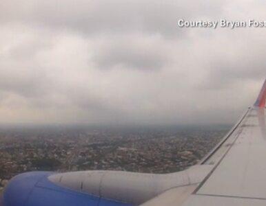Boeing lądował bez podwozia - nagranie z wnętrza samolotu