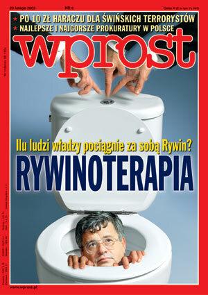 Okładka tygodnika Wprost nr 8/2003 (1056)