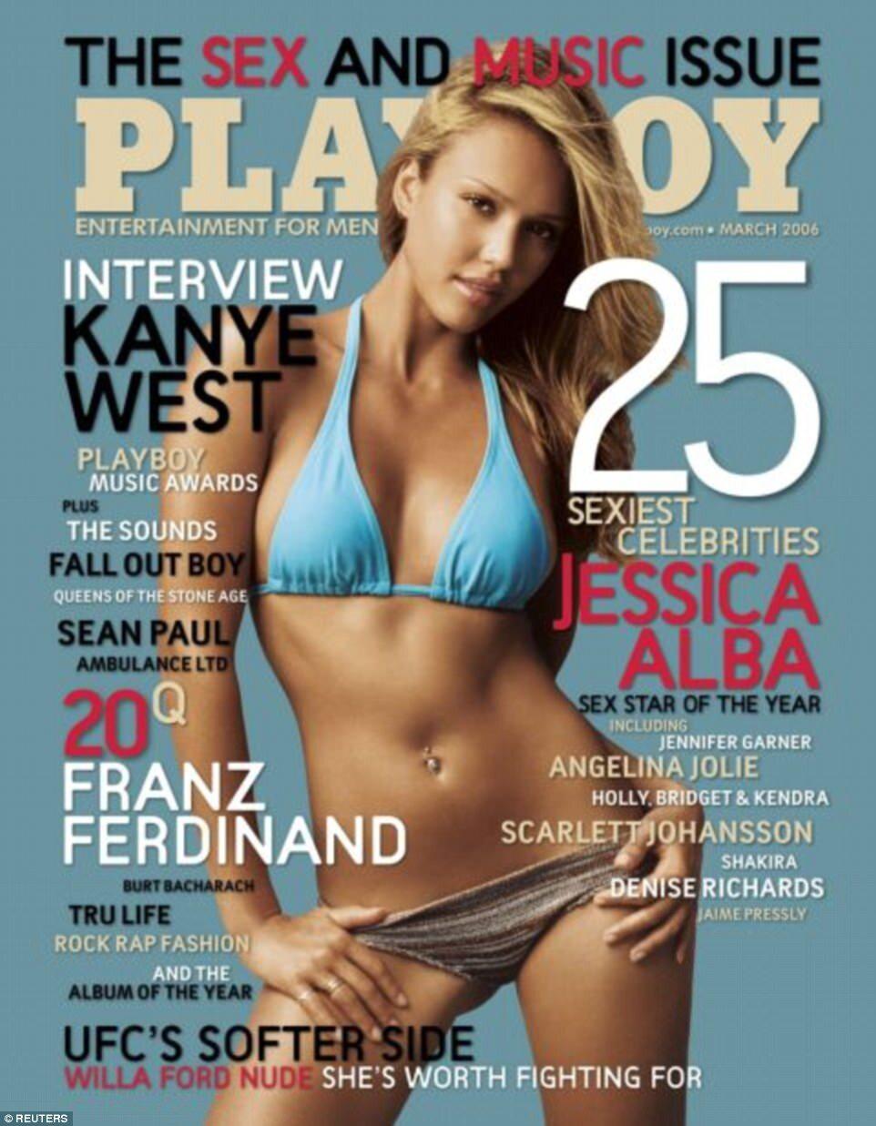 "Okładka magazynu ""Playboy"" - marzec 2006 rok Aktorka Jessica Alba na okładce ""Playboya""."
