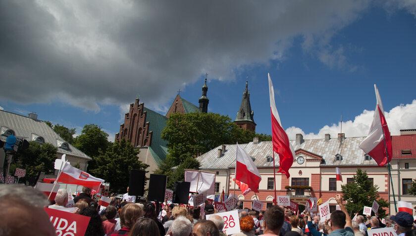 Wiec Andrzeja Dudy