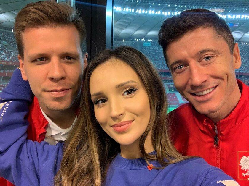 Wojciech Szczęsny, Marina Łuczenko i Robert Lewandowski