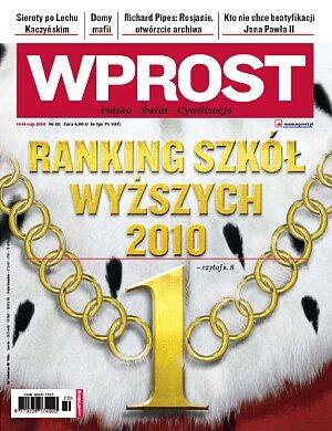 Okładka tygodnika Wprost nr 20/2010 (1423)
