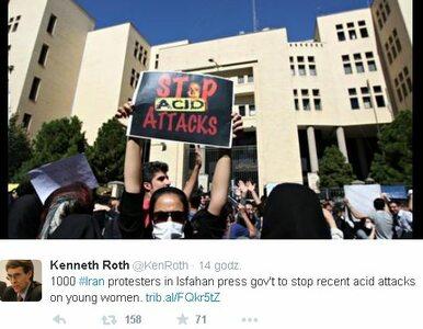 Osiem kobiet oblanych kwasem. Manifestacje przeciw przemocy