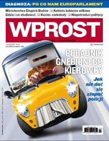Okładka tygodnika Wprost nr 22/2009 (1377)