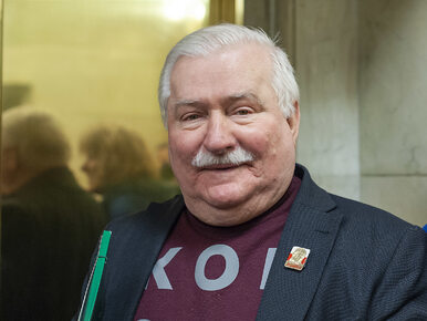 Wałęsa żartobliwie o żonie: Ona się do PiS-u mi zapisze. Dlatego wciąż...