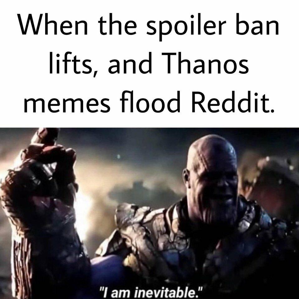 Kiedy kończy obowiązywać zakaz spoilerowania i memy z Thanosem zalewają Reddita