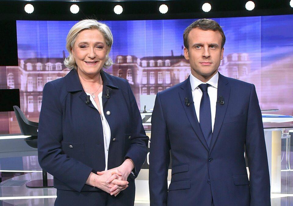 Kandydaci w II turze wyborów prezydenckich we Francji: Marine Le Pen i Emmanuel Macron
