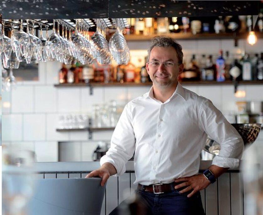 Daniel Pawełek w swojej pierwszej restauracji Butchery&Wine