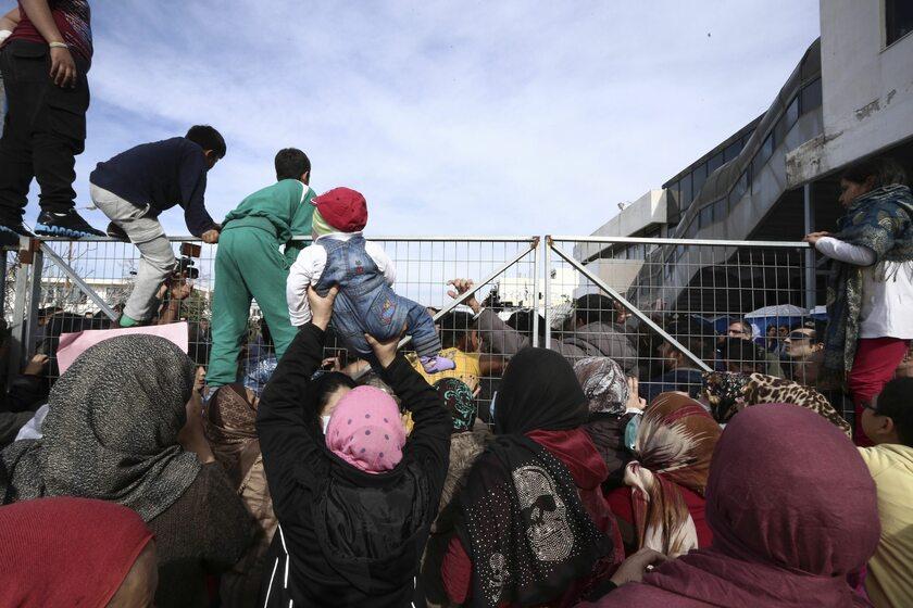 Protest uchodźców w Atenach, 5 lutego 2017 roku