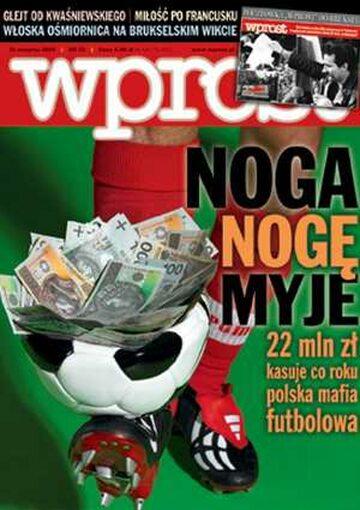Okładka tygodnika Wprost nr 32/2005 (1184)