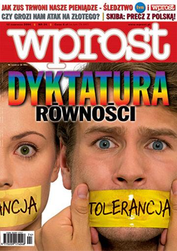 Okładka tygodnika Wprost nr 24/2004 (1124)