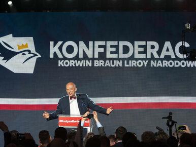"""""""Fakty"""" TVN pominęły Konfederację w materiale o wyborach. Korwin-Mikke..."""
