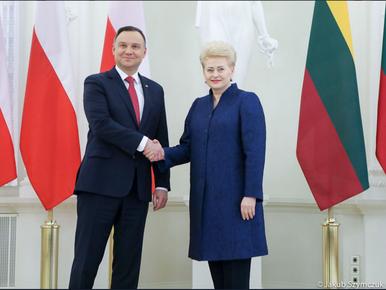 """Wspólna deklaracja prezydentów Polski i Litwy. """"Ideały Konstytucji są..."""