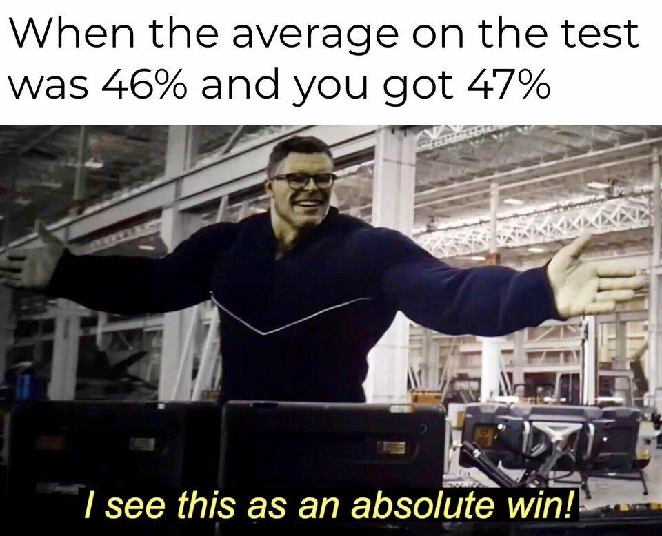 Kiedy średnia na teście wynosiła 46 proc., a ty miałeś 47