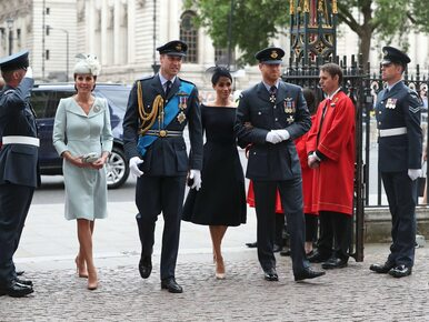 Rodzina królewska na obchodach 100-lecia Royal Air Force. Pałac...