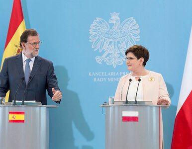 Premier Szydło: Polska i Hiszpania patrzą podobnie na UE