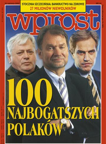 Okładka tygodnika WPROST: 25/2002