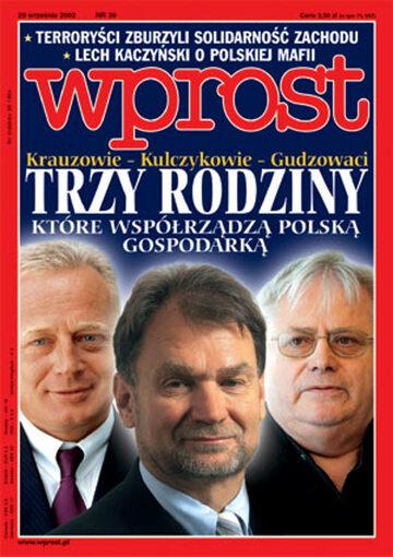 Okładka tygodnika Wprost nr 39/2002 (1035)