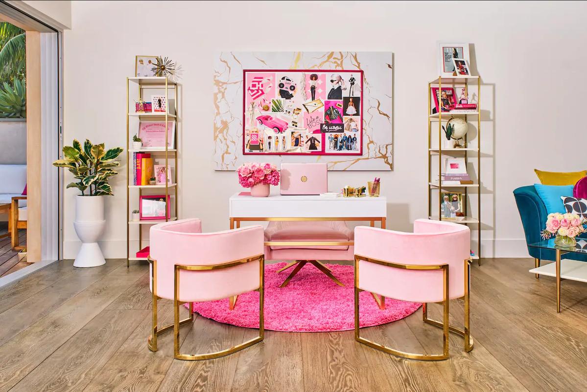 Wnętrze domu Barbie