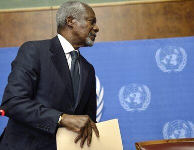 Annan już nie będzie walczył o pokój dla Syrii. Na koniec pisze: Asad...