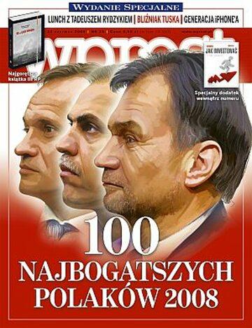 Okładka tygodnika Wprost nr 25/2008 (1330)