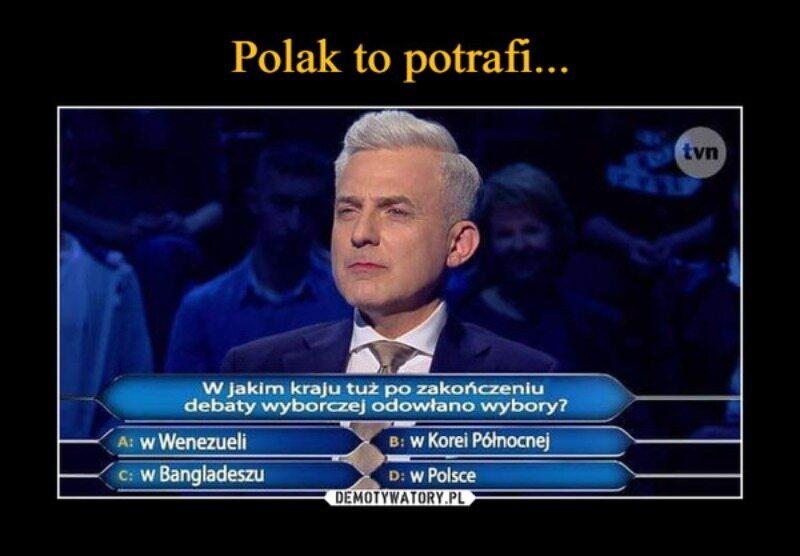 Mem związany z debatą prezydencką