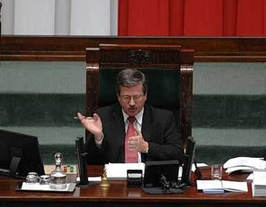 Komorowski marszałkiem Sejmu