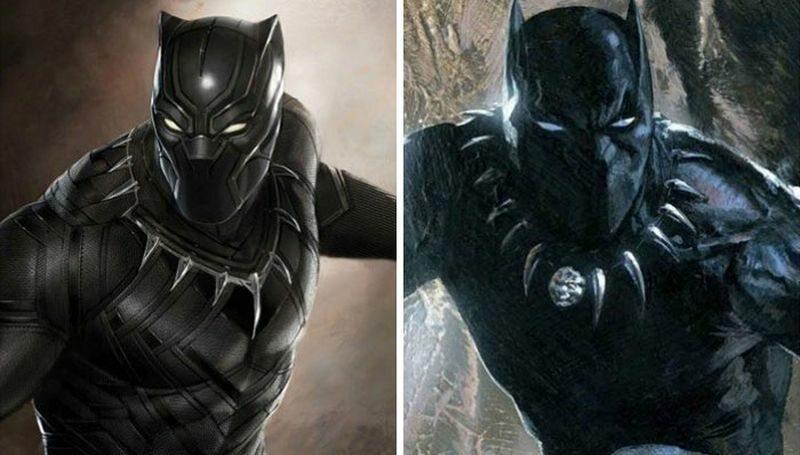 Black Panther (po lewej w filmie, po prawej zgodnie z komiksem)