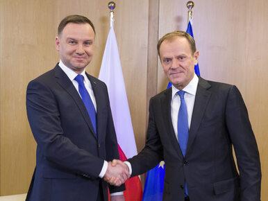 """Duda z Tuskiem śmiali się z Komorowskiego? """"Dowcip był mój"""""""