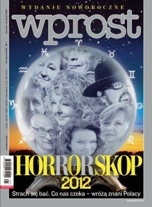 Okładka tygodnika Wprost nr 1/2012 (1507)