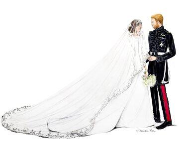 Królewski ślub oczami artystki. Gwiazdy są zachwycone
