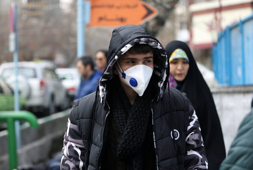 Ludzie na ulicach Teheranu