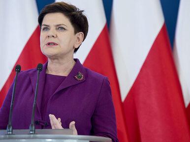 Beata Szydło: Cieszę się, że doszło wreszcie do otrzeźwienia ze strony...