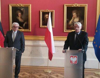 """Spotkanie Steinmeier-Waszczykowski. """"Stosunki polsko-niemieckie są dobre..."""