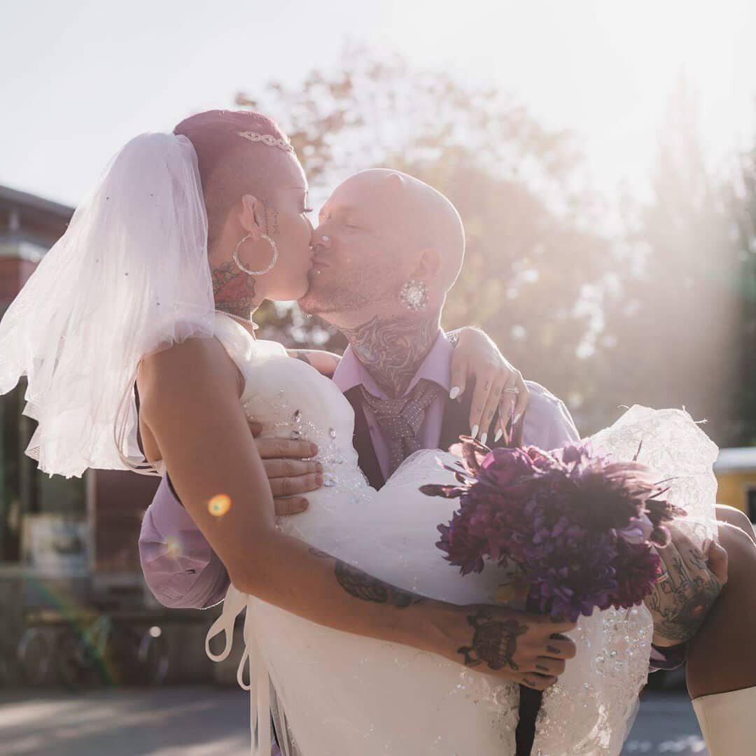Russ Foxx z żoną