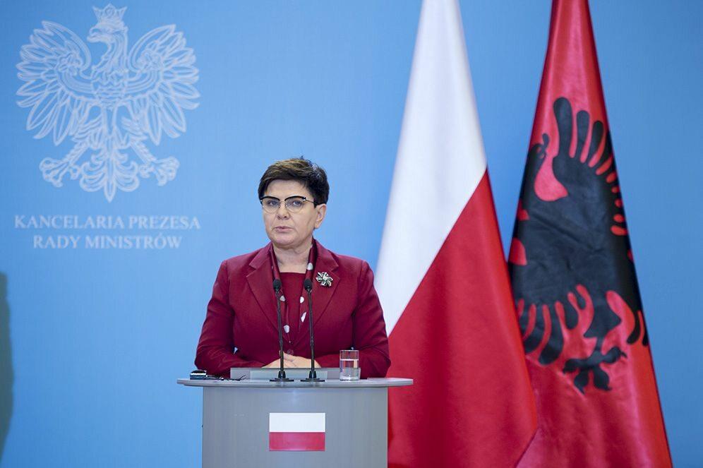 Premier Beata Szydło na spotkaniu z premierem Albanii